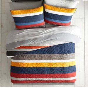 Pottery Barn MVP Stripe Quilt